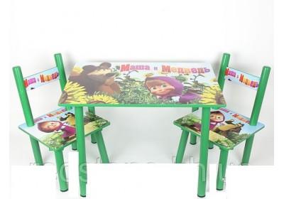 Комплект детский стол 2 стула Маша и медведь