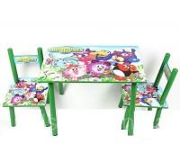 Комплект детский стол 2 стула Смешарики