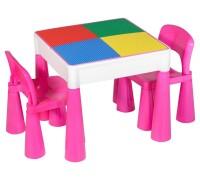 Детский столик с 2 стульчиками Tega Baby Mamut розовый 899P