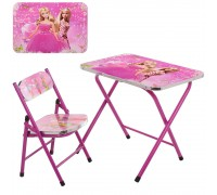 Столик со стульчиком складной детский комплект Барби A19-BB