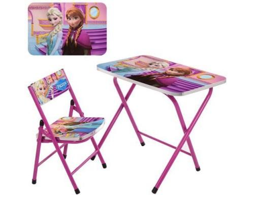 Столик со стульчиком складной детский комплект Frozen A19-FR