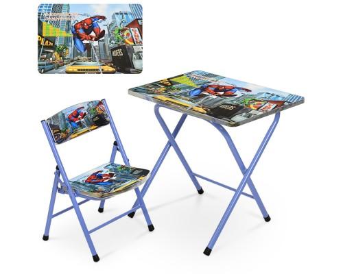 Столик со стульчиком складной детский комплект Spider man A19-SP