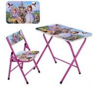 Столик со стульчиком складной детский комплект София A19-SF