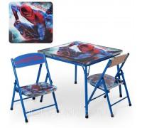 Комплект столик с 2 стульчиками складной Человек паук DT21-SP
