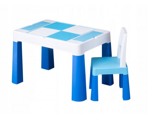 Детский столик со стульчиком Tega Baby Mamut Multifun голубой MF-001-120