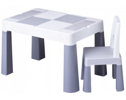 Детский столик со стульчиком Tega Baby Mamut Multifun серый MF-001-106