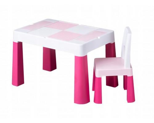 Детский столик со стульчиком Tega Baby Mamut Multifun розовый MF-001-123