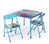 Комплект столик с 2 стульчиками складной Холодное сердце DT21-FR