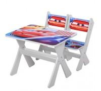 Комплект детский стол 2 стула Тачки M2100-05