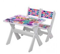 Комплект детский стол 2 стула Совы M2100-11