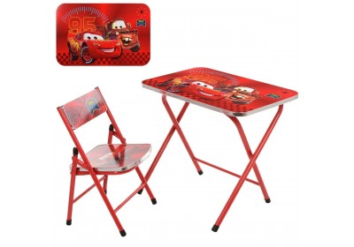 Столик со стульчиком складной детский комплект Тачки A19-MQ