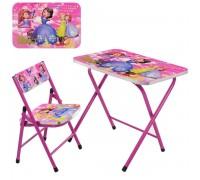 Столик со стульчиком складной детский комплект София A19-SFP