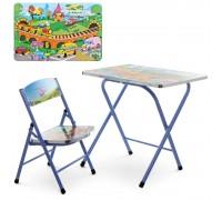 Столик со стульчиком складной детский комплект Транспорт A19-TC