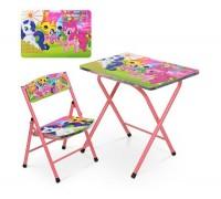 Столик со стульчиком складной детский комплект My Little Pony A19-LP