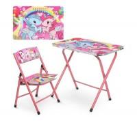 Столик со стульчиком складной детский комплект Единорог A19-NEW UNI2