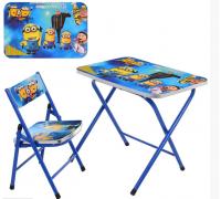 Столик со стульчиком складной детский комплект A19-MN
