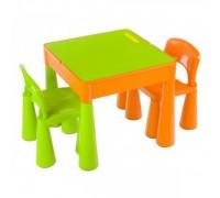 Детский столик со стульчиком Tega Baby Mamut оранжево-зеленый MT-001
