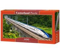 Пазлы Castorland Скоростной Поезд 600 элементов В-060146