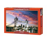 Пазлы Castorland Ночной мост, Tower Bridge, London, England 1000 элементов С-101122
