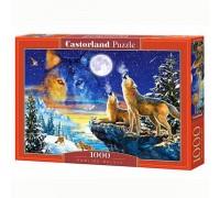 Пазлы Castorland Волки воют на луну 1000 элементов С-103317