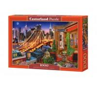 Пазлы Castorland Огни Бруклинского моста 1000 элементов С-104598