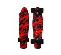 Скейт Пенни Борд (Penny Board) со светящимися колесами. 22 дюйма Ecoline Rebel FL-22 красный