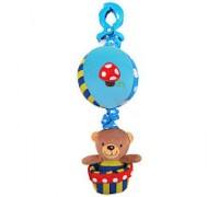 Подвеска музыкальная Мишка под шаром мальчик Baby mix