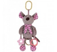 Игрушка подвеска музыкальная Мышка розовая Baby Mix STK15608P