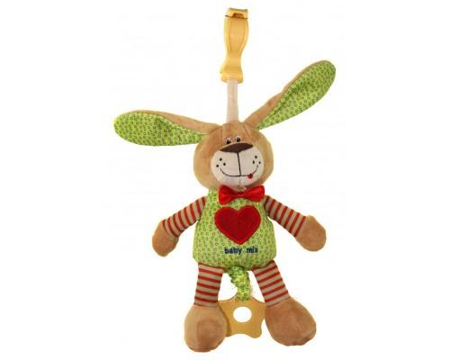 Игрушка подвеска музыкальная Заяц с клипсой Baby Mix STK16395