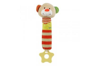 Игрушка пищалка c прорезывателем Мишка Baby mix STK-16135B