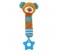 Игрушка пищалка для руки Мишка Baby mix STK16431B