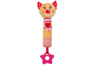 Игрушка пищалка с прорезывателем Котик Baby mix STK-17518C