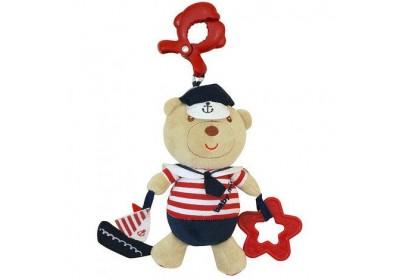 Игрушка подвеска музыкальная мишка моряк Baby mix E2552-DA00