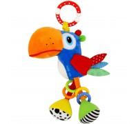 Игрушка подвеска с вибрацией попугай Тукан Baby mix P1237-EU00