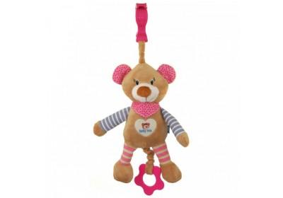 Игрушка подвеска музыкальная мишка Baby mix STK-16393P