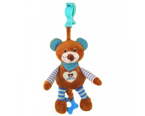 Игрушка подвеска музыкальная мишка Baby mix STK-16393В