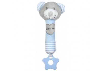 Плюшевая игрушка BABY MIX Мишка STK-19392 BB голубой