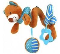 Игрушка на коляску спираль Мишка Baby mix STK16432В
