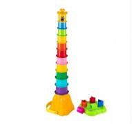Развивающая игрушка пирамидка-сортер Жираф Fancy PR05