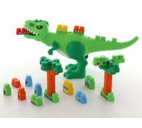 Набор игровой Динозавр с конструктором Полесье 67807