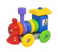 Развивающая игрушка паровозик Wader 39757