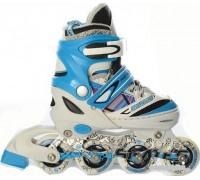 Ролики Profi Roller A14094 размер M 34-37 2 цвета голубые
