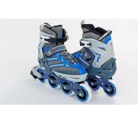 Ролики Zelart Z-803 38-41 голубые