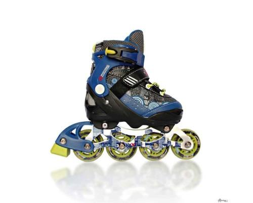 Ролики Explore Activa Boy 35-38 синие с дополнительной втулкой