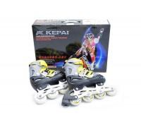 Ролики Kepai р. 30-33 F1-S6 желтые с черным