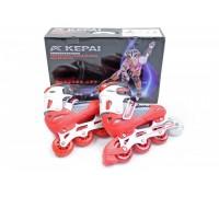 Ролики Kepai 38-41 F1-S6 красные с белым