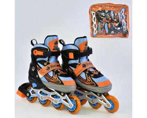 Ролики Best Rollers А 25502 34-37 синий с оранжевым
