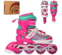 Ролики Profi Roller A 4122-S-P 31-34 розовые