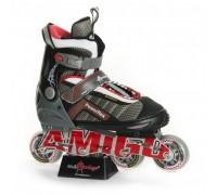 Ролики Amigo Sport Powerflex красные 38-41