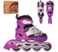 Ролики Profi Roller A4123-S-V 31-34 фиолетовые